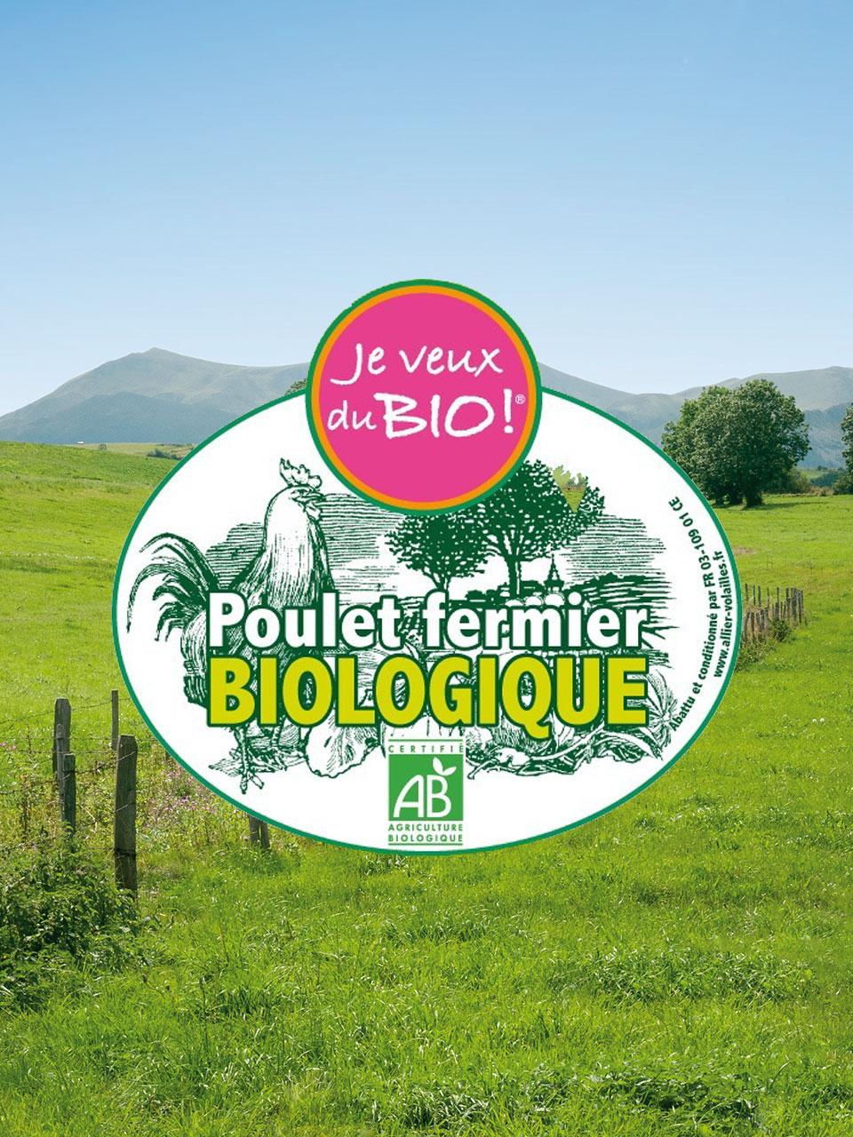 Poulet biologique d'Auvergne
